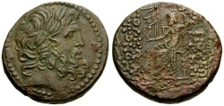Ancient Coins - Syria. Seleucia and Pieria. Antioch Æ28 / Zeus