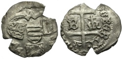 World Coins - Hungary. Albert Hapsburg AR Denar