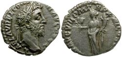 Ancient Coins - Commodus AR Denarius / Liberalitas