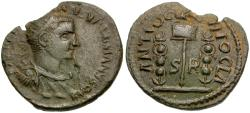 Ancient Coins - Valerian I (AD 253-260). Pisidia. Antioch  Æ22 / Eagle and Standards