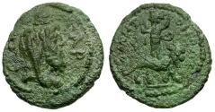 Ancient Coins - Cilicia. Tarsos as Antiocheia. Pseudo-autonomous Æ17 / Sandan on Animal