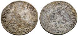 World Coins - Holy Roman Empire. Bohemia. Leopold I (1640-1705) AR 3 Kreuzer / Double Eagle