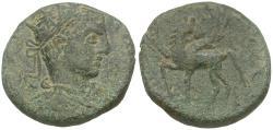 Ancient Coins - Elagabalus (AD 218-222). Decapolis. Hippos-Sussita Æ24