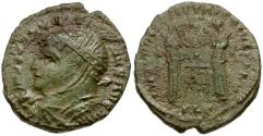 Ancient Coins - Constantine I the Great Imitative Æ3 / Two Victories at Altar