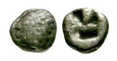 Ancient Coins - F/F Ionia, Kolophon AR Hemiobol / Apollo