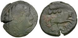 Ancient Coins - 214 BC - Roman Republic. Anonymous Æ Quadrans / Bull