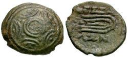Ancient Coins - Thessaly. Thessalian League Æ15 / Dart Sling