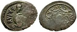 Ancient Coins - VF/VF 46 BC - Roman Republic Mn. Cordius Rufus AR Denarius / Owl on Helmet / Aegis