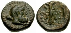 Ancient Coins - EF/EF Pisidia, Selge Æ14 / Herakles / Thunderbolt and Bow
