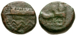 Ancient Coins - Phoenicia.  Sidon.  Abdashtart (Straton I) Æ15 / King in Chariot
