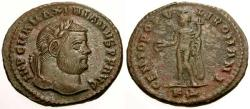 Ancient Coins - EF/VF Maximianus as Augustus Æ Follis / Genius