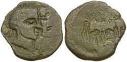 Ancient Coins - Zeugitania. Utica Æ28 / Dioscuri
