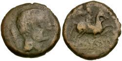 Ancient Coins - Iberia. Iltirkesken Æ26 / Horse and Rider