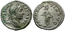 Ancient Coins - Severus Alexander (AD 222-235) AR Denarius / Abundantia