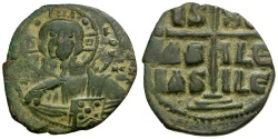 Ancient Coins - Byzantine Empire. Anonymous Class B Æ Follis