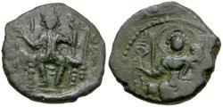 Ancient Coins - India. Kushan Empire. Vasudeva II (AD 290-310) Æ Drachm