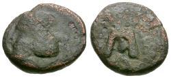 Ancient Coins - Kings of Parthia. Phraates IV (38-2 BC) Æ Chalkous / Monogram