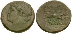 Ancient Coins - Sicily. Syracuse. Hieronymous (215-214 BC). Æ22