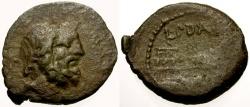 Ancient Coins - 91 BC - Roman Republic, L. Tituri L.f. Sabinus Æ Semis