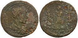 Ancient Coins - Trajan Decius (AD 249-251). Cilicia. Mallos Æ38 / Emperor with Tyche and Amphilocos