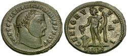 Ancient Coins - Maximinus II, as Augustus (AD 310-313) AE Follis / Genius