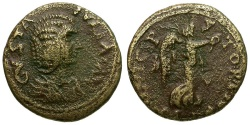 Ancient Coins - Julia Domna. Macedonia. Stobi Æ21 / Nike