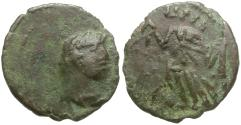 Ancient Coins - Late Roman Imitative Æ4 / Victory
