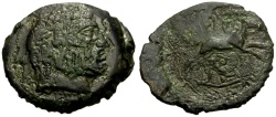Ancient Coins - Thessaly, Kierion Æ Trichalkon / Arne and Horse