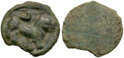 Ancient Coins - Chach. Anonymous AE Cash / Lion