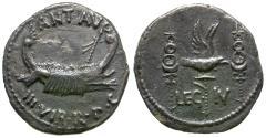 Ancient Coins - Imperatorial. Mark Antony (43-30 BC). Legionary AR Denarius / Legion IV