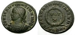 Ancient Coins - EF/VF Constantine II as Caesar Æ3 / Wreath