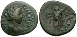 Ancient Coins - Macedonia.  Thessalonika Æ24 / Kabeiros