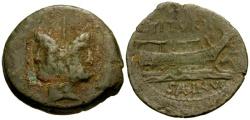 Ancient Coins - 89 BC - Roman Republic. L. Tituri L.f. Sabinus Æ AS