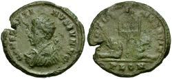 Ancient Coins - Constantine II as Caesar Æ3 / Vexillum and captives