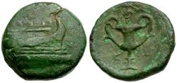 Ancient Coins - Islands off Epirus. Corcyra Æ18 / Kantharos