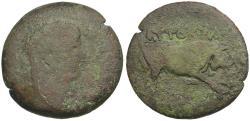 Ancient Coins - Claudius (AD 41-54). Egypt. Alexandria Æ Diobol / Ex Dattari Collection