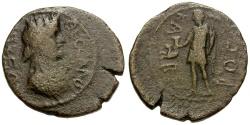 Ancient Coins - Macedonia.  Thessalonika.  Pseudo-autonomous issue Æ23 / Kabeiros