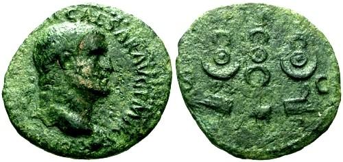 Ancient Coins - aVF/gF+ Galba AE As / Legionary standards