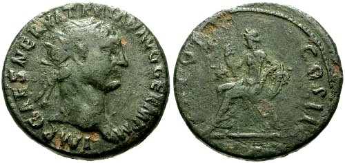 Ancient Coins - gF+/gF+ Trajan AE Dupondius / Abundantia