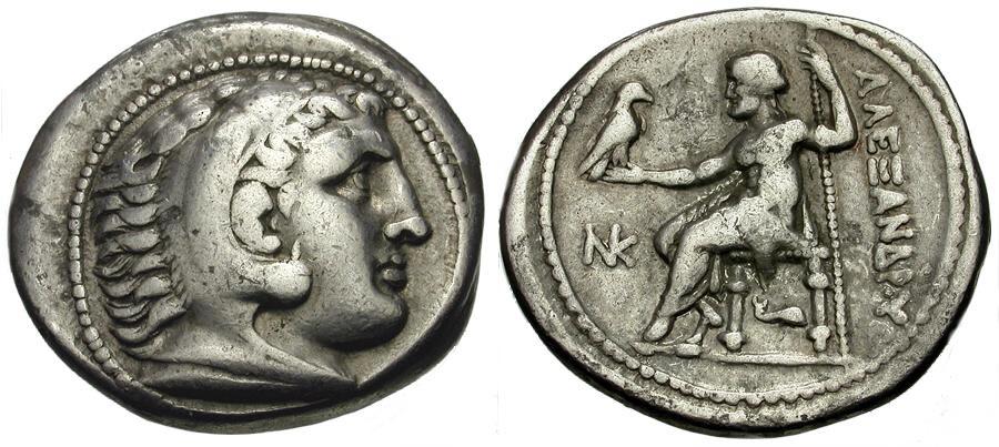 Ancient Coins - Kings of Macedon.  Alexander III The Great. Amphipolis Mint AR Tetradrachm / NK