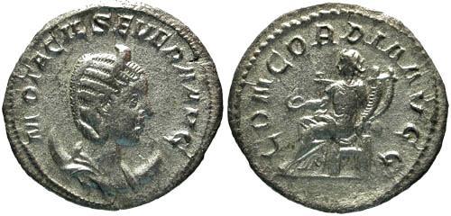 Ancient Coins - aVF/aVF Otacilia Severa AR Antoninianus / Concordia