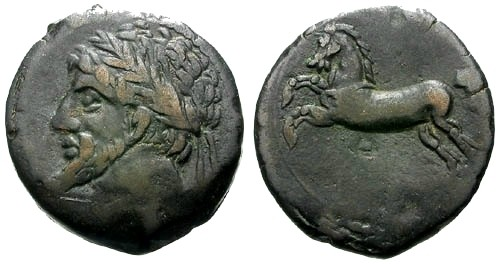 Ancient Coins - VF/VF Kings of Numidia Micipsa / Horse