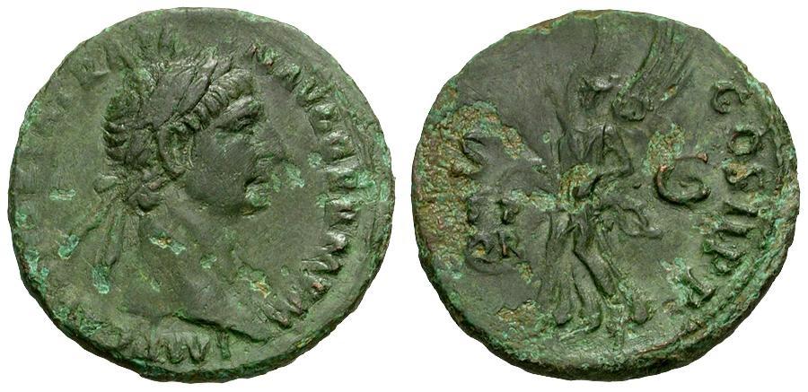 Ancient Coins - Trajan Æ AS / Victory