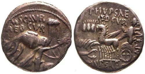 Ancient Coins - VF Aemilia 8 Republic Denarius / Biblical Reference