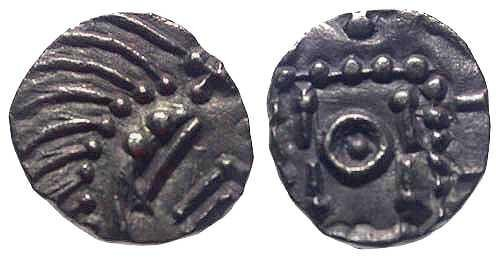 Ancient Coins - EF/EF Anglo Saxon Porcupine AR Sceat