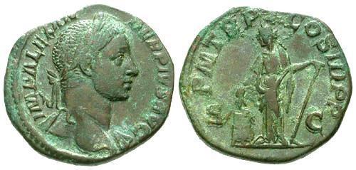 Ancient Coins - aVF/aVF Severus Alexander Brass Sestertius / Annona