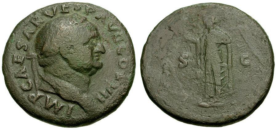 Ancient Coins - Vespasian Æ AS / Spes