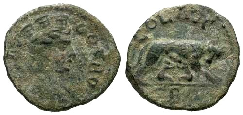 Ancient Coins - VF/VF Troas Imperial Issue AE / She wolf
