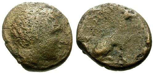 Ancient Coins - F/aF Crete Kydonia AE15 / Hound