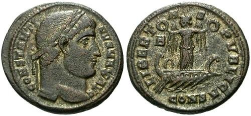Ancient Coins - VF/EF Constantine the Great AE3  / LIBERTAS PVBLICA